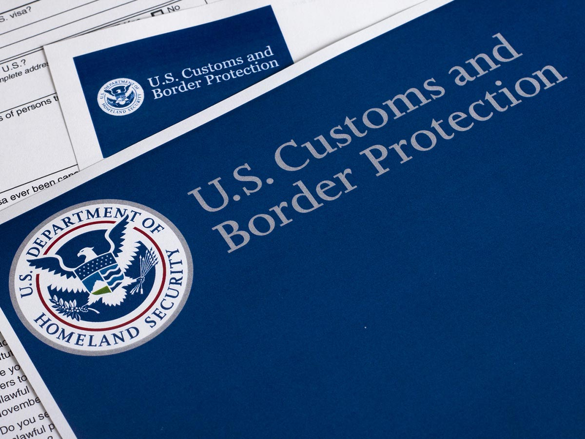 Printed US Customs and Border Protection with CBP logo