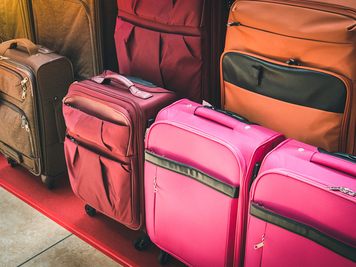 Luggage/suitcases depicting travel