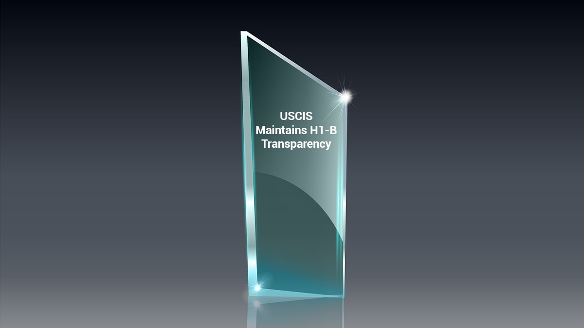 A glass plate representing transparency in USCIS operations