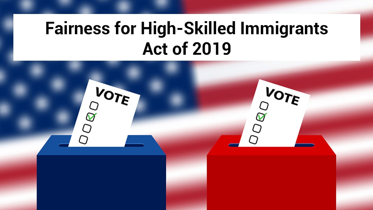 Vote symbols depicting the Fairness for skilled immigrants act