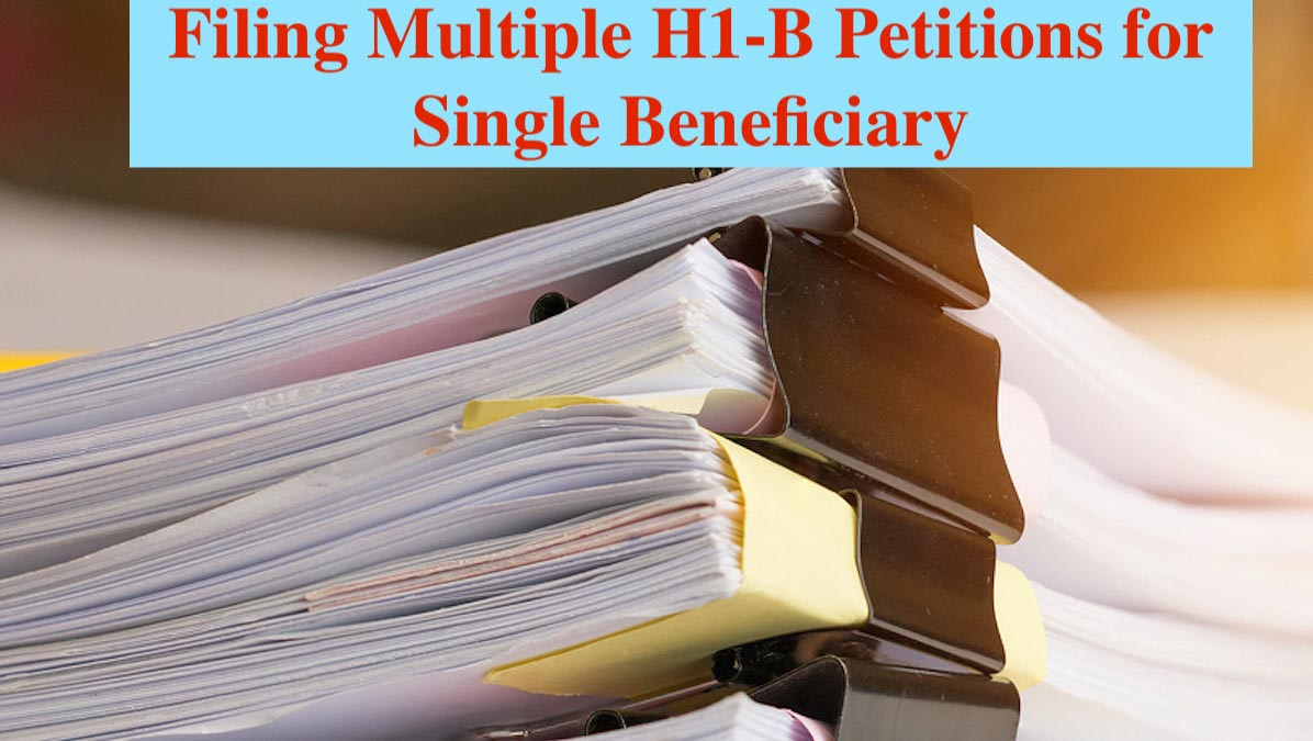 Stack of Paper documents with clip, Pile of unfinished documents on office desk folders. Business papers for Annual Report files, Document is written,presented showing multiple h1b filings.