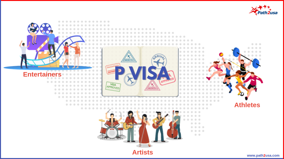 P visa for entertainers in the US
