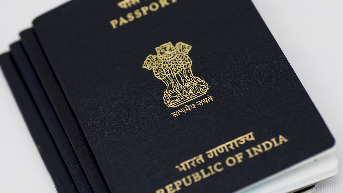 New Indian passport