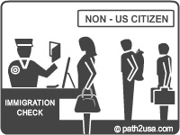 US immigration check