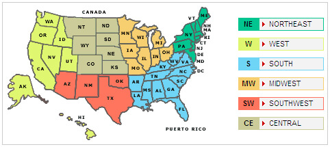 united states map with names and abbreviations Us Map With States Their Abbreviations